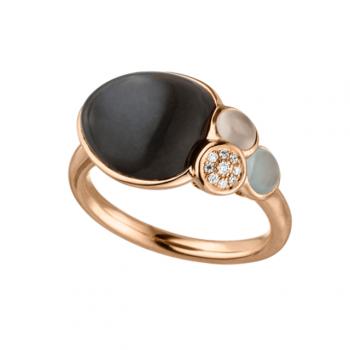 Ring mit Mondstein und Brillanten Roségold