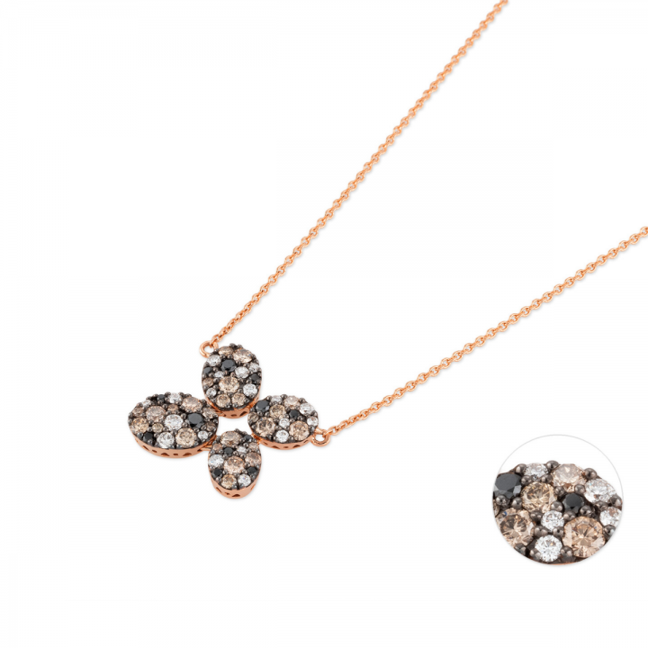 Brillant Collier Pitti 0,82ct Roségold