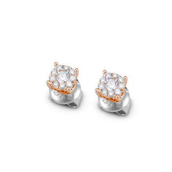 Brillant Ohrstecker pavé 0,30ct Roségold