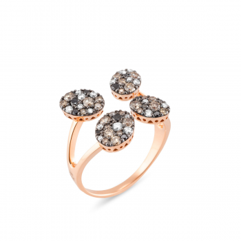 Brillantring Pitti 0,84ct Roségold