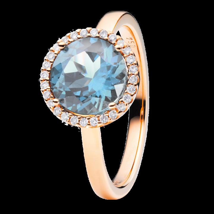 Capolavoro Ring Espressivo Blau Topas