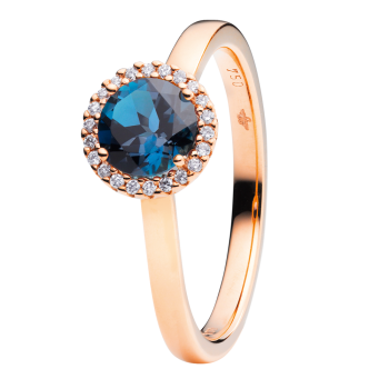 Capolavoro Ring Espressivo London Blue Topas