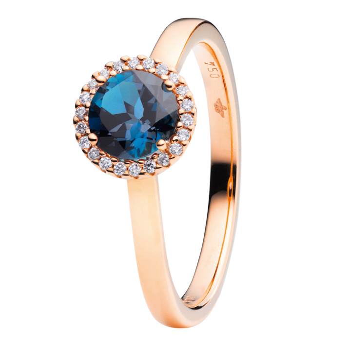 Capolavoro Ring Espressivo London Blue Topas