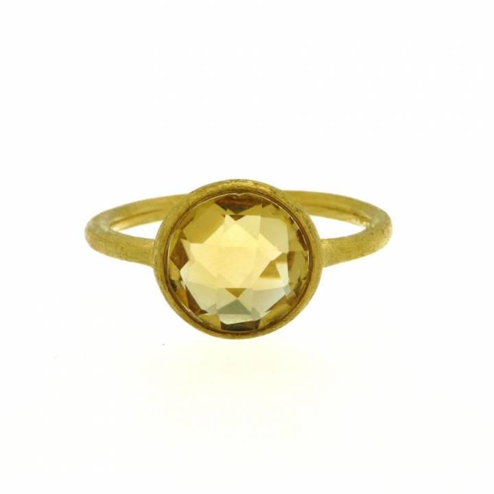 Citrin Ring Gelbgold mattiert