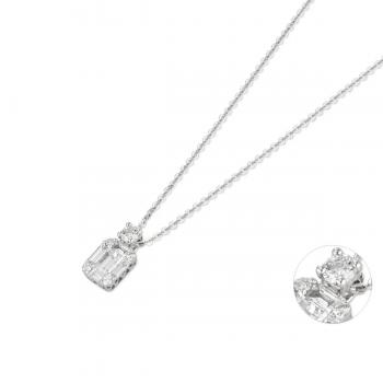 Diamant Collier 0,39ct Weißgold