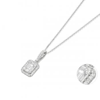 Diamant Collier 0,42ct Weißgold