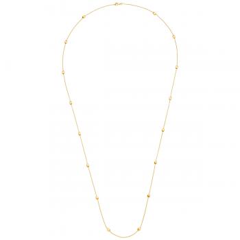Halskette 90cm lang Gelbgold