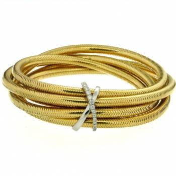 Brillant Armband dehnbar 0,18ct Gelbgold