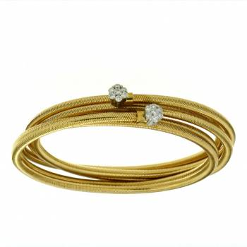 Brillant Armband flexibel 0,36ct Gelbgold