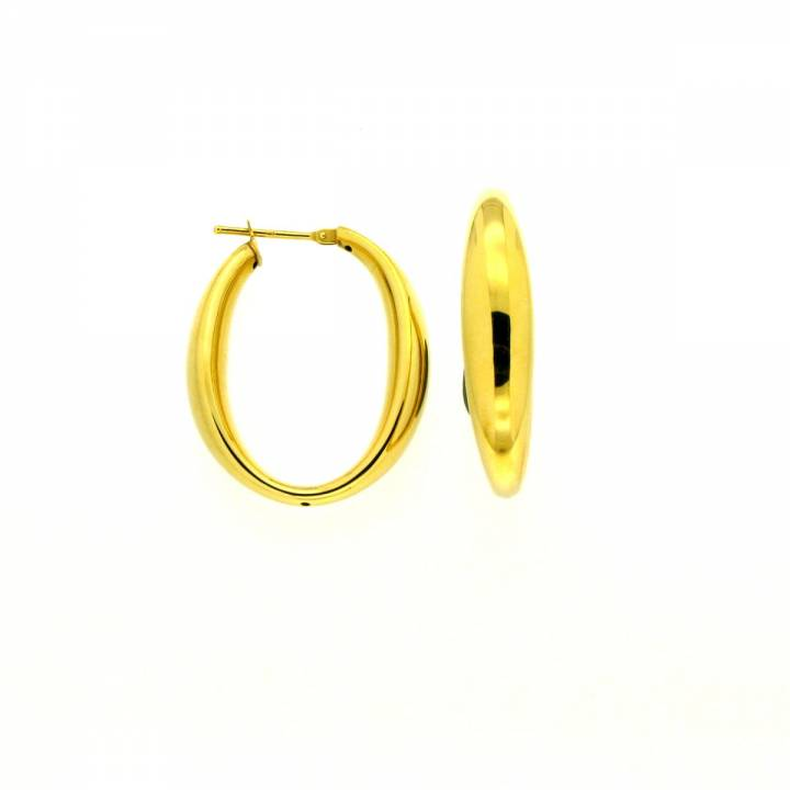 Creolen oval 30mm Gelbgold