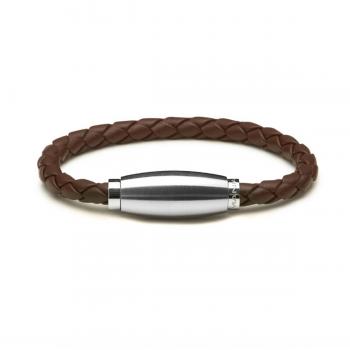 Monomania Armband Leder geflochten braun 45880E52