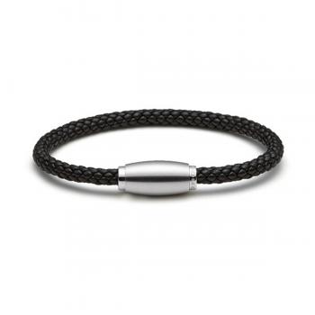 Monomania Armband Leder geflochten schwarz 45800I16