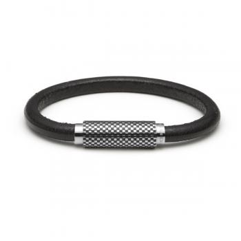 Monomania Armband Leder glatt schwarz 45750B52