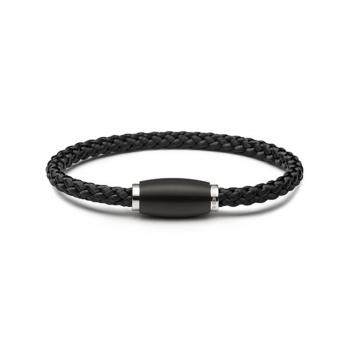 Monomania Armband Tau geflochten schwarz 45801C01