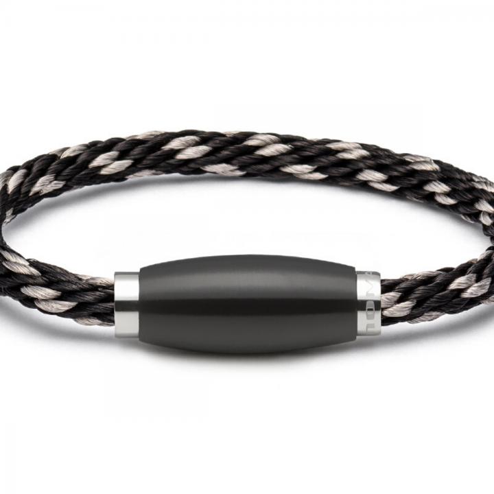 Monomania Armband Tau schwarz-silber 45881J52