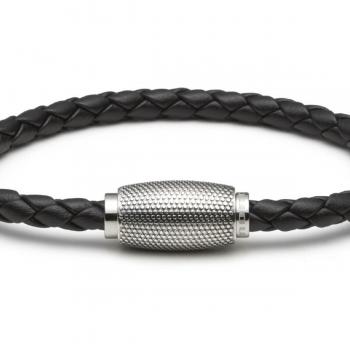 Monomania Armband leder geflochten schwarz 45691E03