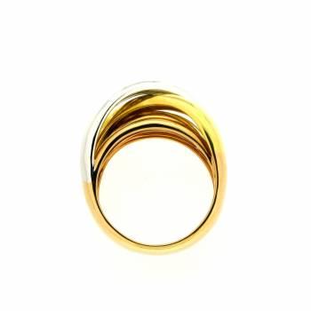 Ring tricolor breit Weiß-Geld-Roségold