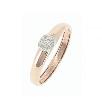 Pesavento Ring 18kt Roségold mit Diamantstaub klein
