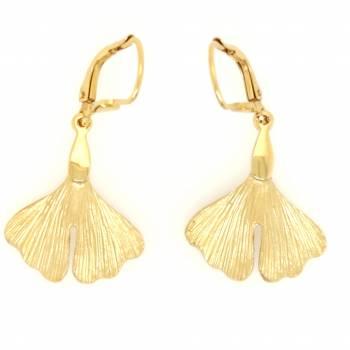 Ginkgo Ohrpendel Gold 375 Nr. 9