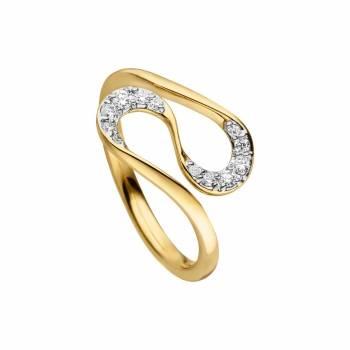 Brillant Ring geschwungen 0,20ct Gelbgold