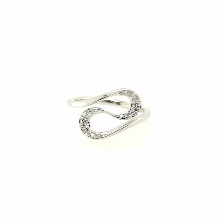 Brillant Ring geschwungen 0,20ct Weißgold