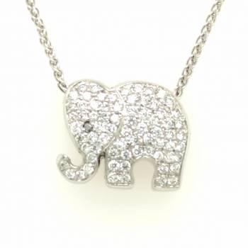 Anhänger Elefant 0,51ct Brillanten