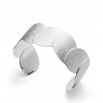 Bastian Armreif Silber kratzmatt 31301