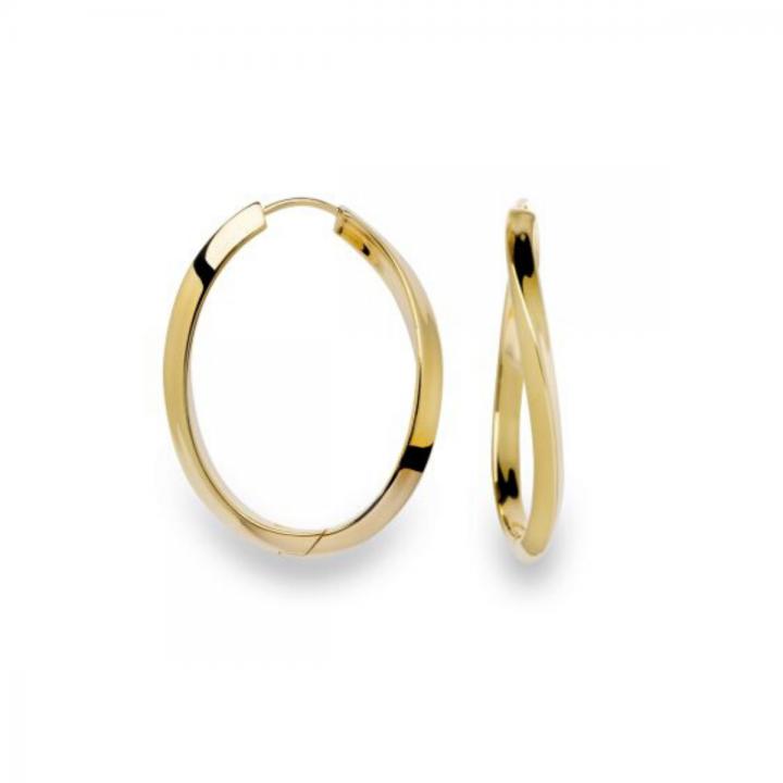 Bastian Creolen Silber gelbvergoldet 20980