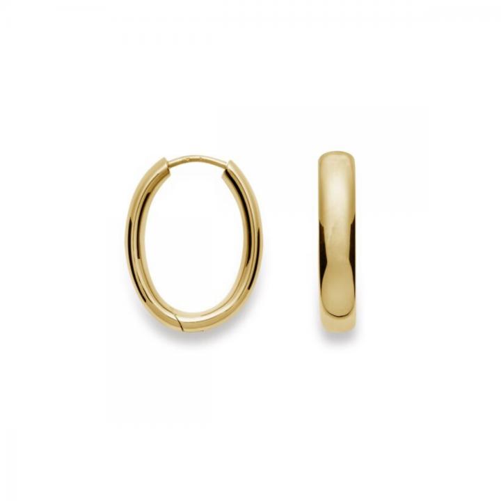 Bastian Creolen Silber gelbvergoldet 21010