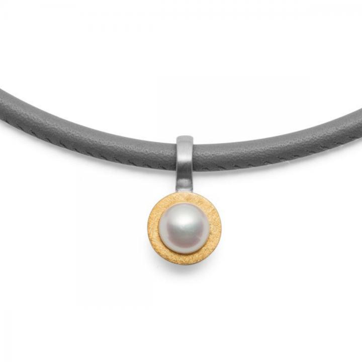 Bastian Perl Anhänger Silber teilvergoldet 37101
