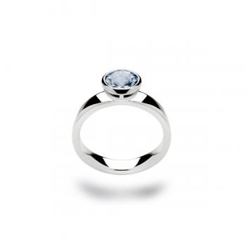 Bastian Ring Silber mit Blautopas 21181