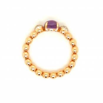 Amethyst Brillant Ring