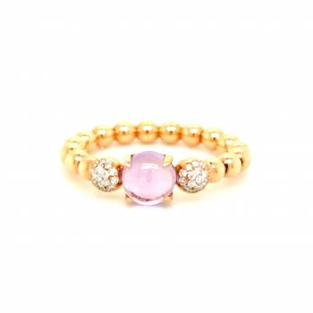 Amethyst Brillant Ring Roségold
