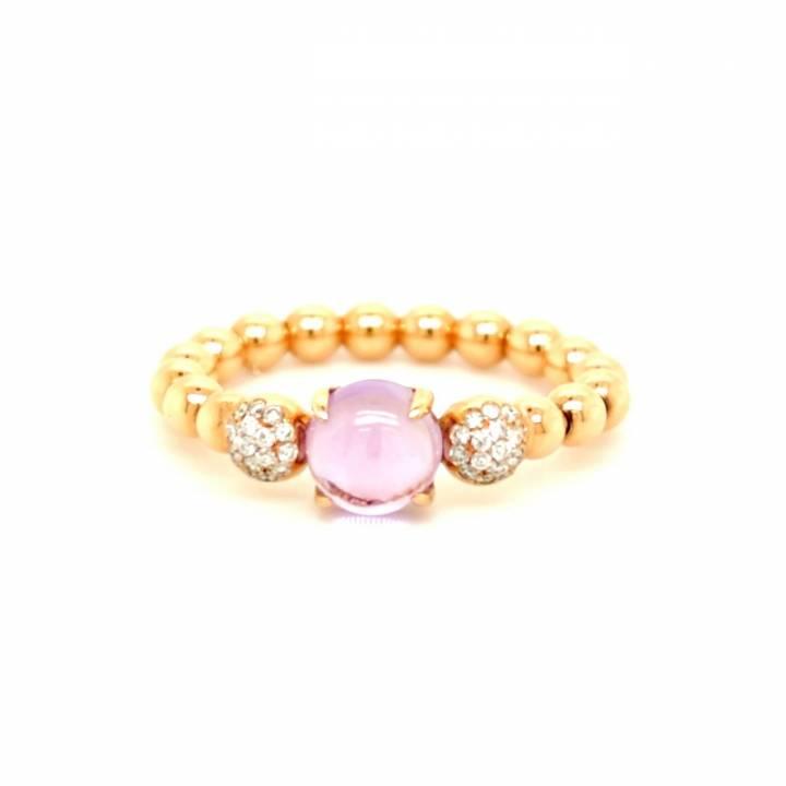 Amethyst Brillant Ring Roségold