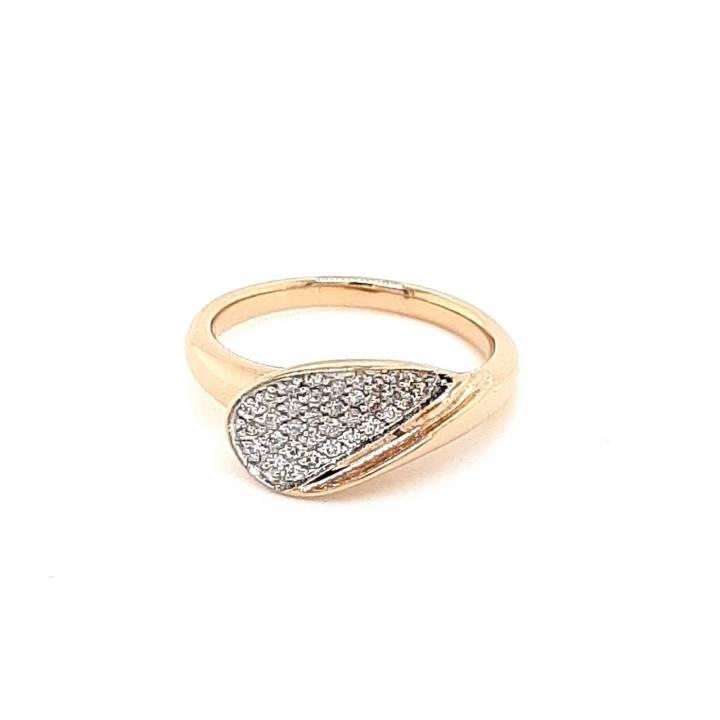 Brillant Ring 0,22ct Roségold