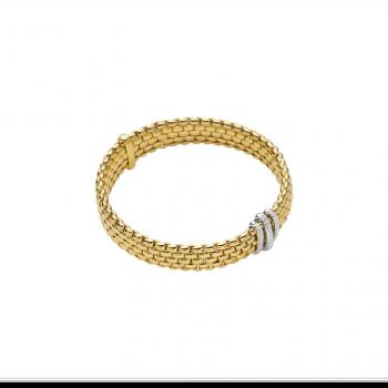 Fope Armband Panorama 587B PAVE Gelbgold