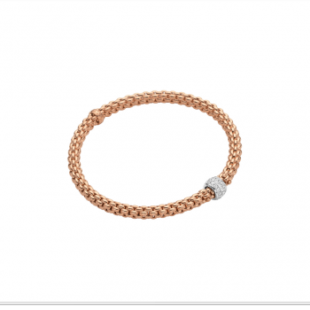 Fope Armband Solo 634B PAVE Roségold
