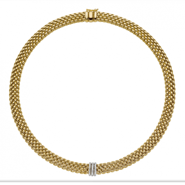 Fope Collier Panorama 587C PAVE Gelbgold