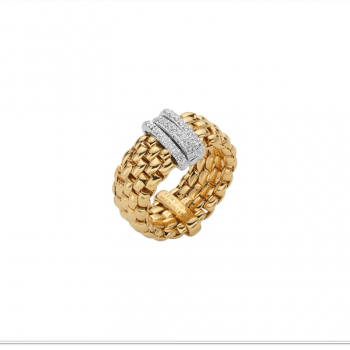 Fope Ring Panorama AN587 PAVE Gelbgold
