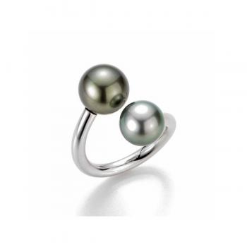 Gellner Ring Silber mit 2 Tahitiperlen 2-80676-02
