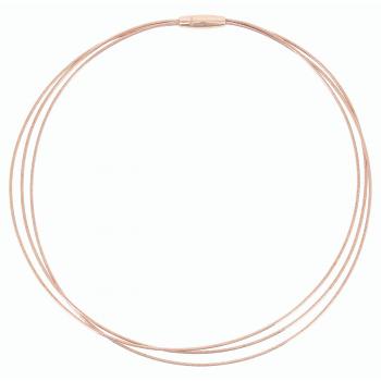 Pesavento Collier rosévergoldet 3-reihig DNA Spring (WDNAG464)