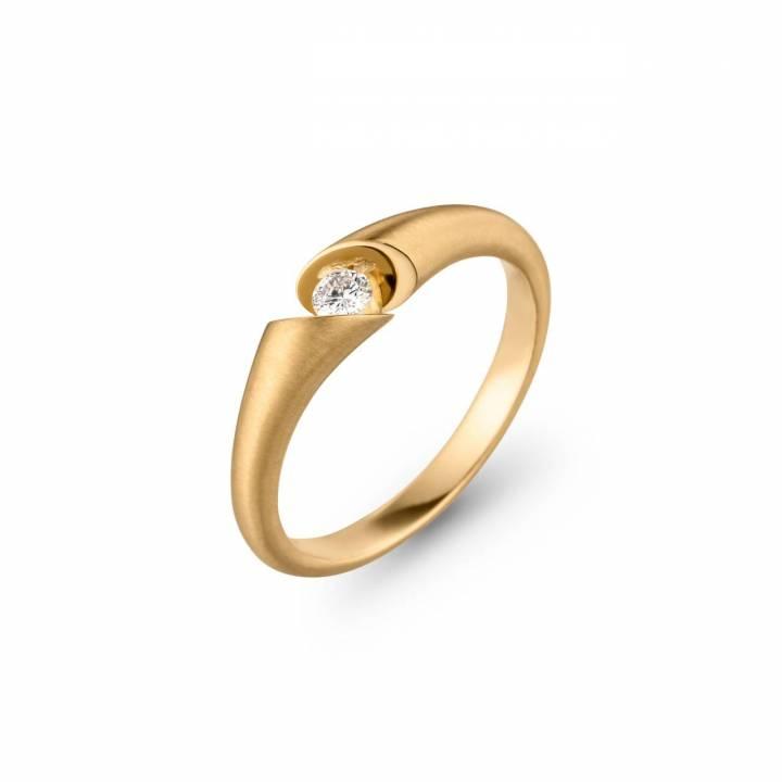 Schaffrath Ring Calla 0,10ct Gelbgold