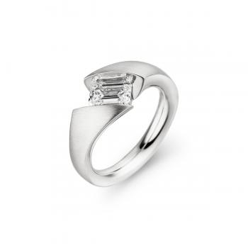 Schaffrath Ring Calla 0,38ct Emerald Weißgold