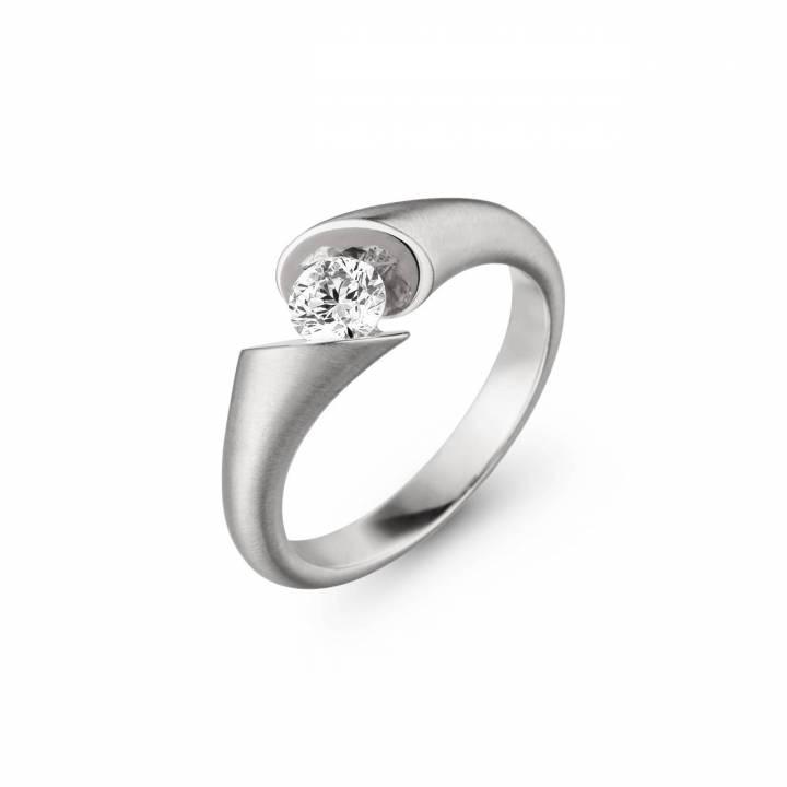 Schaffrath Ring Calla 0,40ct Weißgold