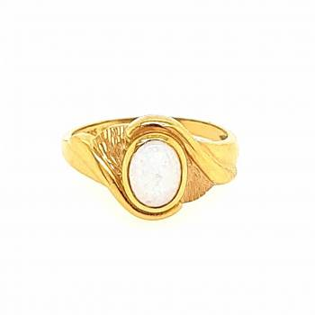 Milchopal Ring Gelbgold