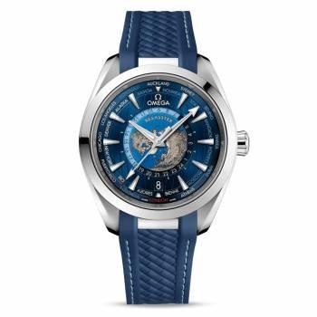 Omega Seamaster Aqua Terra 150M Co-Axial Master Chronometer GMT Worldtimer 43 mm (220.12.43.22.03.001) Herrenuhr