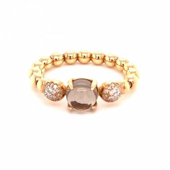 Rauchquarz Brillant Ring Roségold