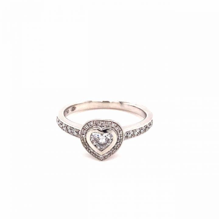 Brillant Ring 0,56ct Weißgold