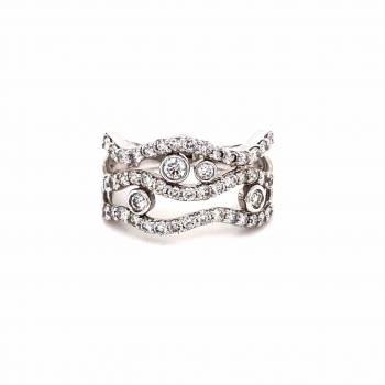 Brillant Ring 1,00ct Weißgold