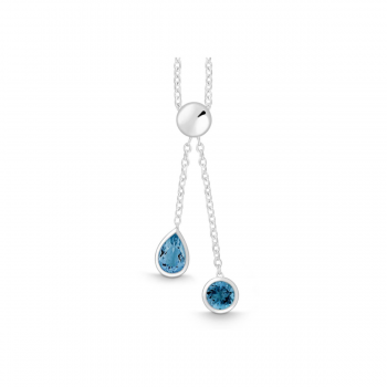 Collier Silber mit London Blue Topas